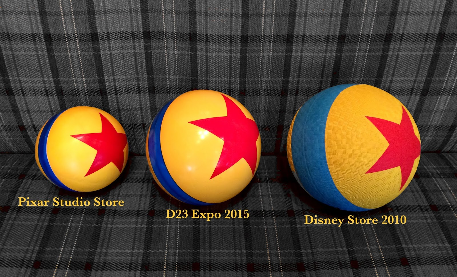 Toy Story Ball : Dan the pixar fan toy story luxo jr ball d expo