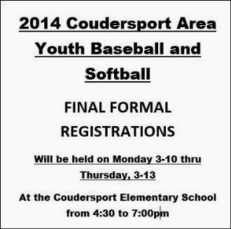 Coudersport Youth Registration