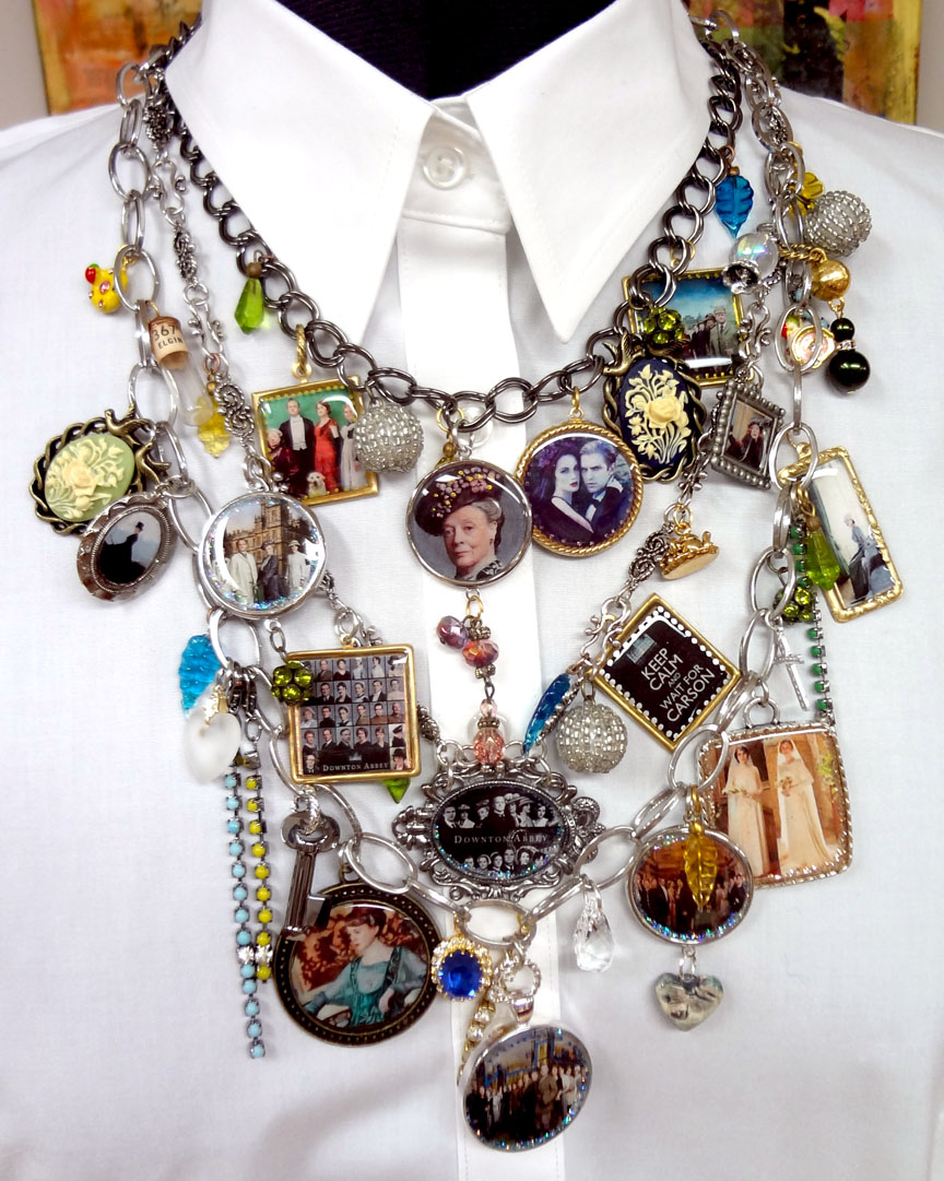 Resin for arts and crafts - Resin Crafts Downton Abbey Resin Bezel Necklace