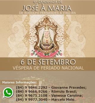 CAMINHADA DE JOSÉ A MARIA