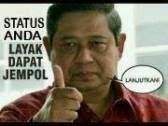Status Gambar Facebook Lucu Dan Unik SBY jempol