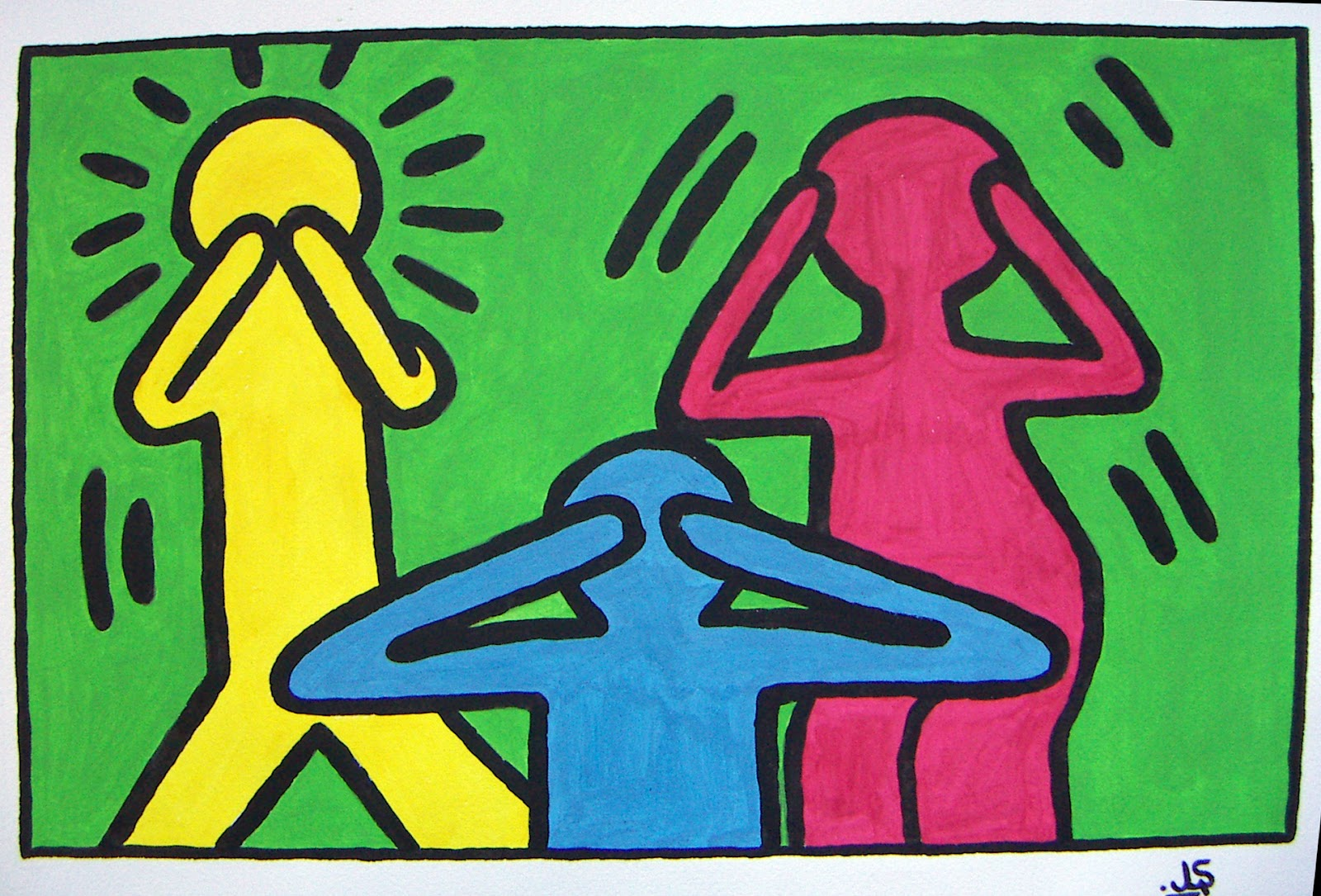 La galer a keith haring ii for Los colores para pintar