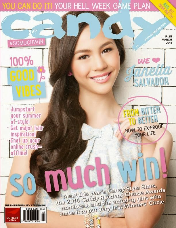 janella salvador covers candy magazine march 2014 issue