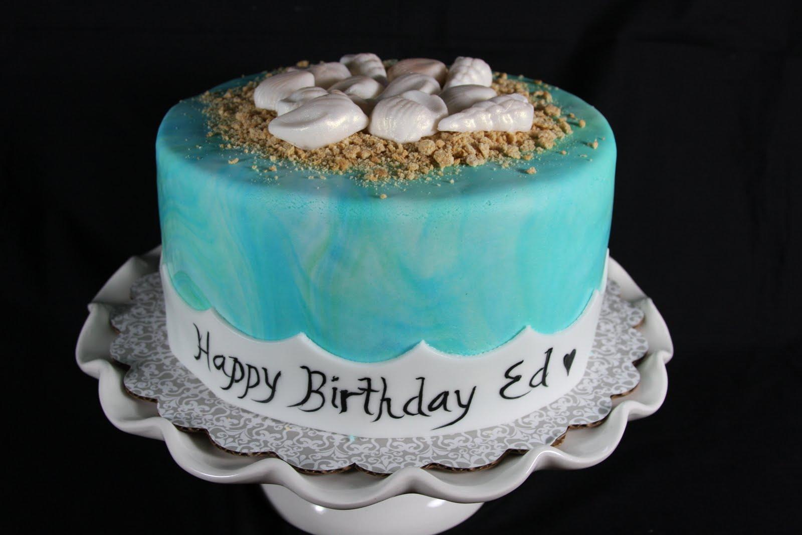 Seashellbeach Themed Birthday Cake Cakes N Goodies