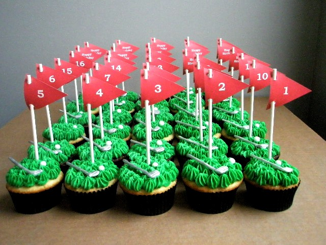 FunFavors Events Golf Cupcakes Free Flag Printables