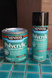 quart and spray can of minwax polycrylic in clear satin. Black Bedroom Furniture Sets. Home Design Ideas