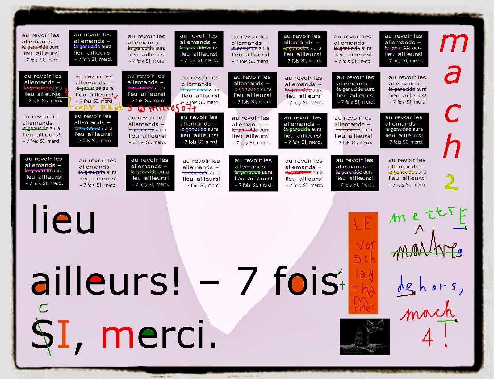 den nie zu deutenden judaskuss erika burkart barbara génucide contre FRANCE suisse