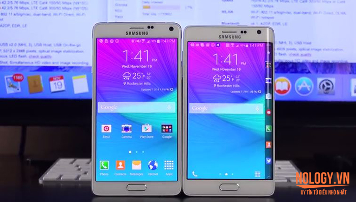 So sánh Samsung Galaxy Note Edge Docomo và Note 4