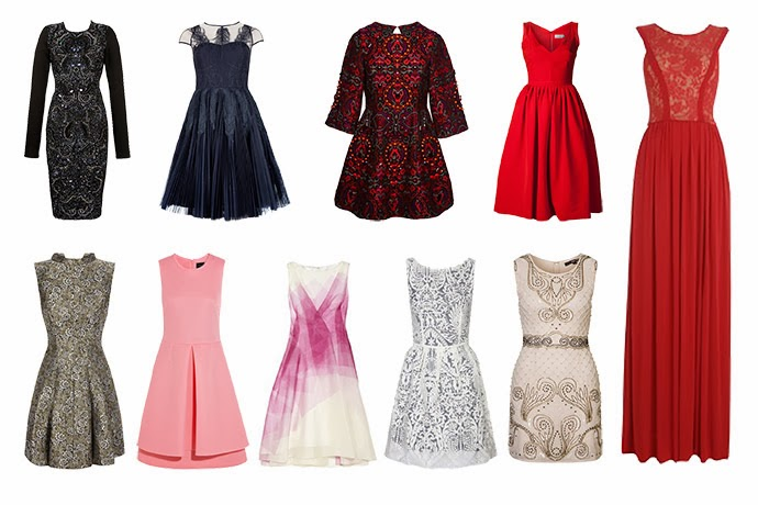 10 Party dresses featuring Needle and Thread, Ted Baker, Asos, Preen, Gorgeous Couture, Oasis, Simone Rocha, Lela Rose, Naf naf, TFNC