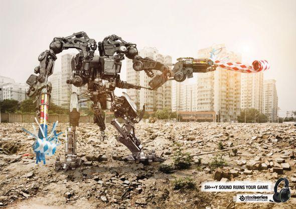 SteelSeries advertisement: Tank