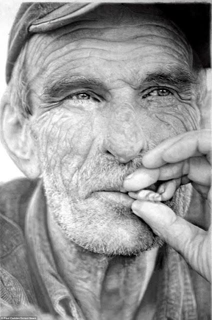 Las sorprendentes imágenes son elaborados con lápiz