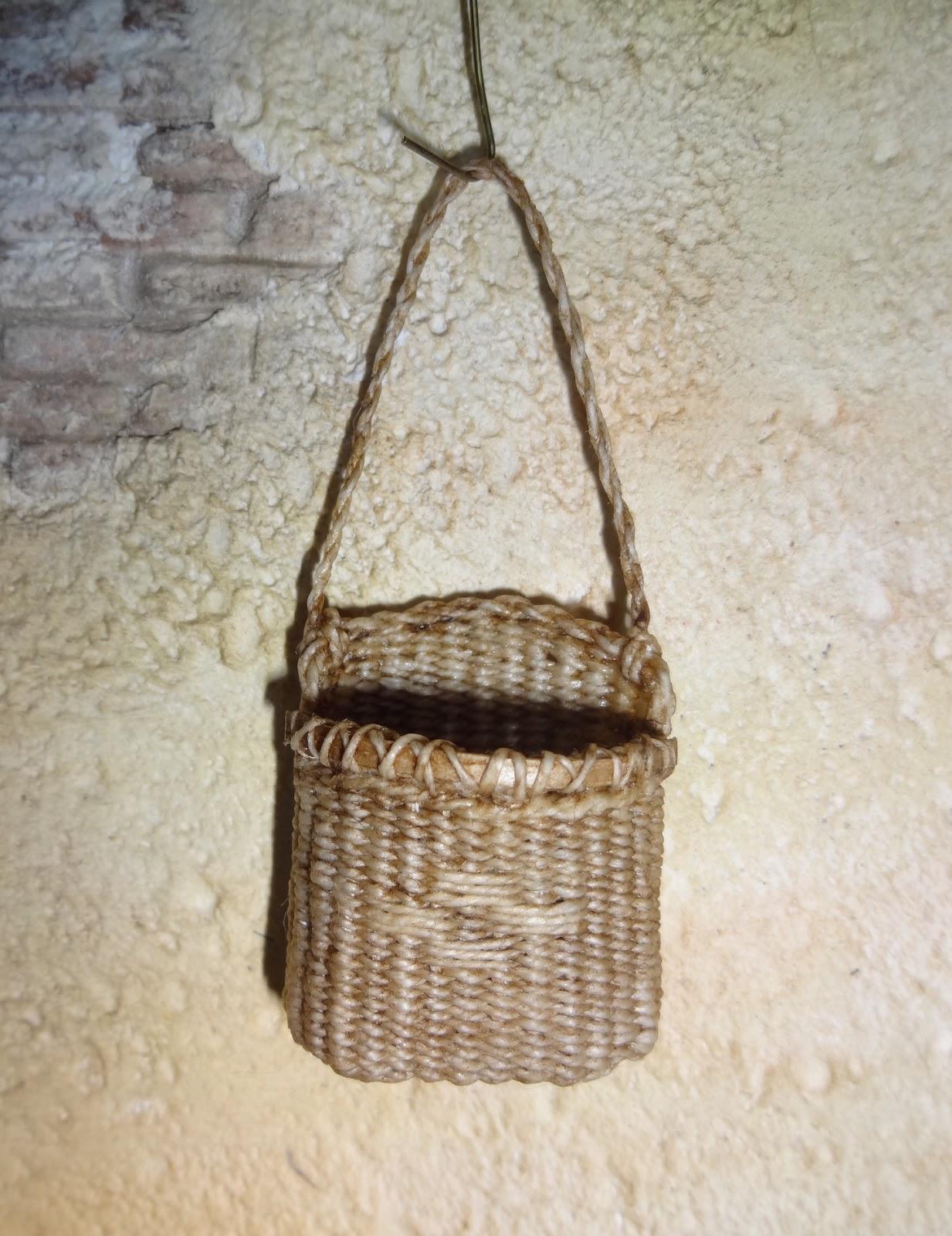 Wall Hanging Baskets basketcase miniatures: some wall hanging baskets