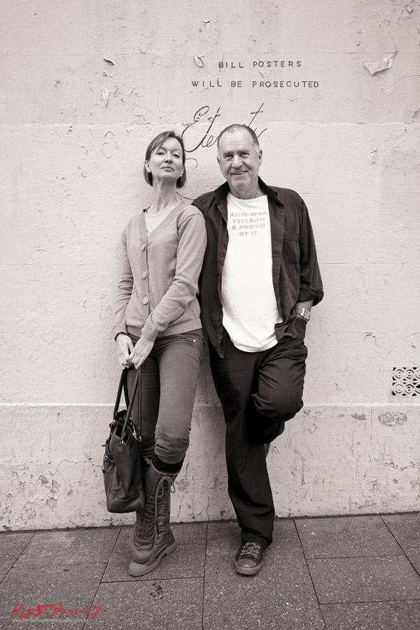 Portrait of two Photographers, Sandra R and Lynn Smith, Redfern 2013 by Kent Johnson. Fuji X-Pro1