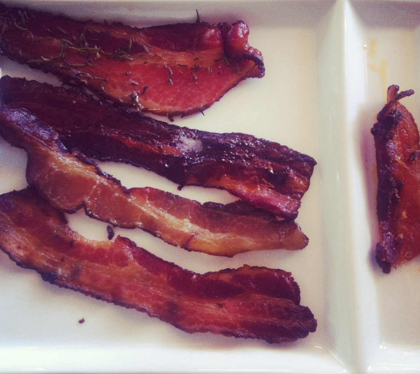 flight of bacon at Cheeky's in Palm Springs