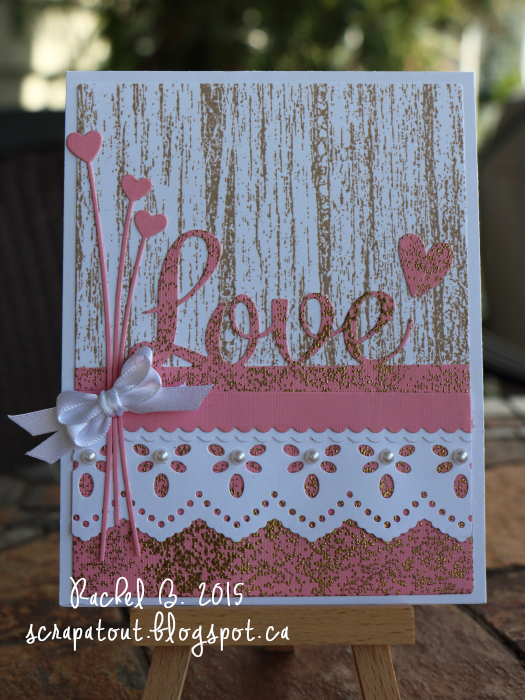 Handmade card, Impression Obsession, Love, Valentine
