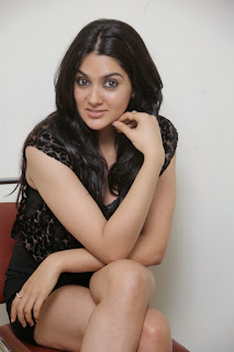 Actress Sakshi Chowdary  Picture Gallery in Black Short Dress  0012