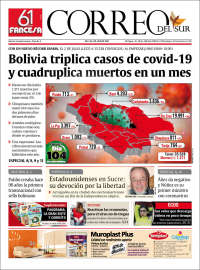 03/07/2020   BOLIVIA   UNA  PRIMERA PÁGINA DE LA PRENSA