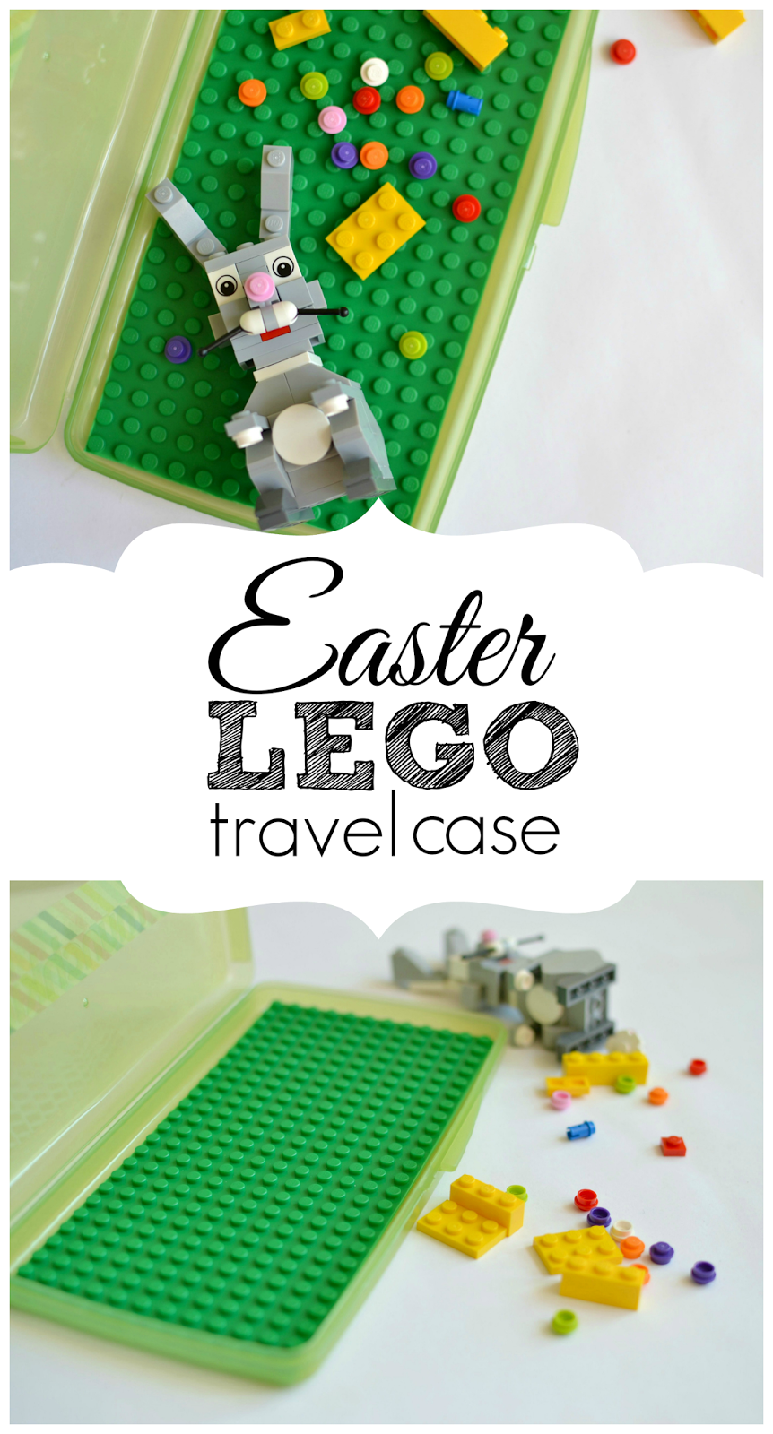 Mommy Testers, lego travel case, DIY lego travel, Lego Easter gift, how to recycle a baby wipes case