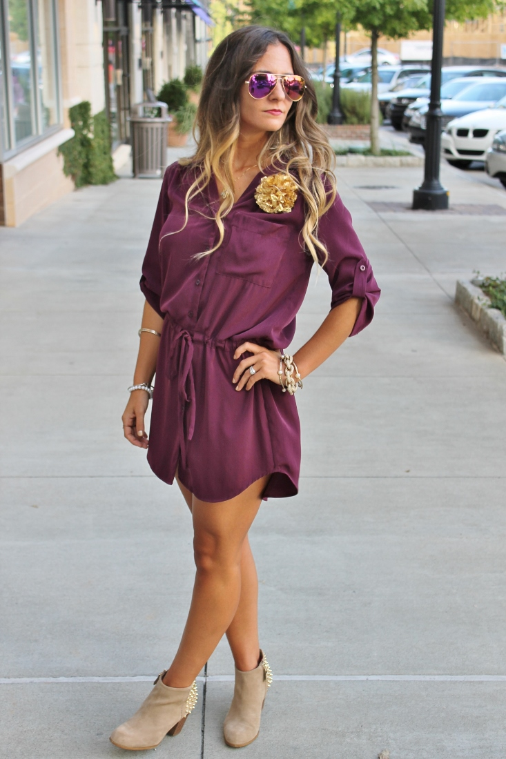 bedazzles after dark  game day outfit  seminole shirt dress
