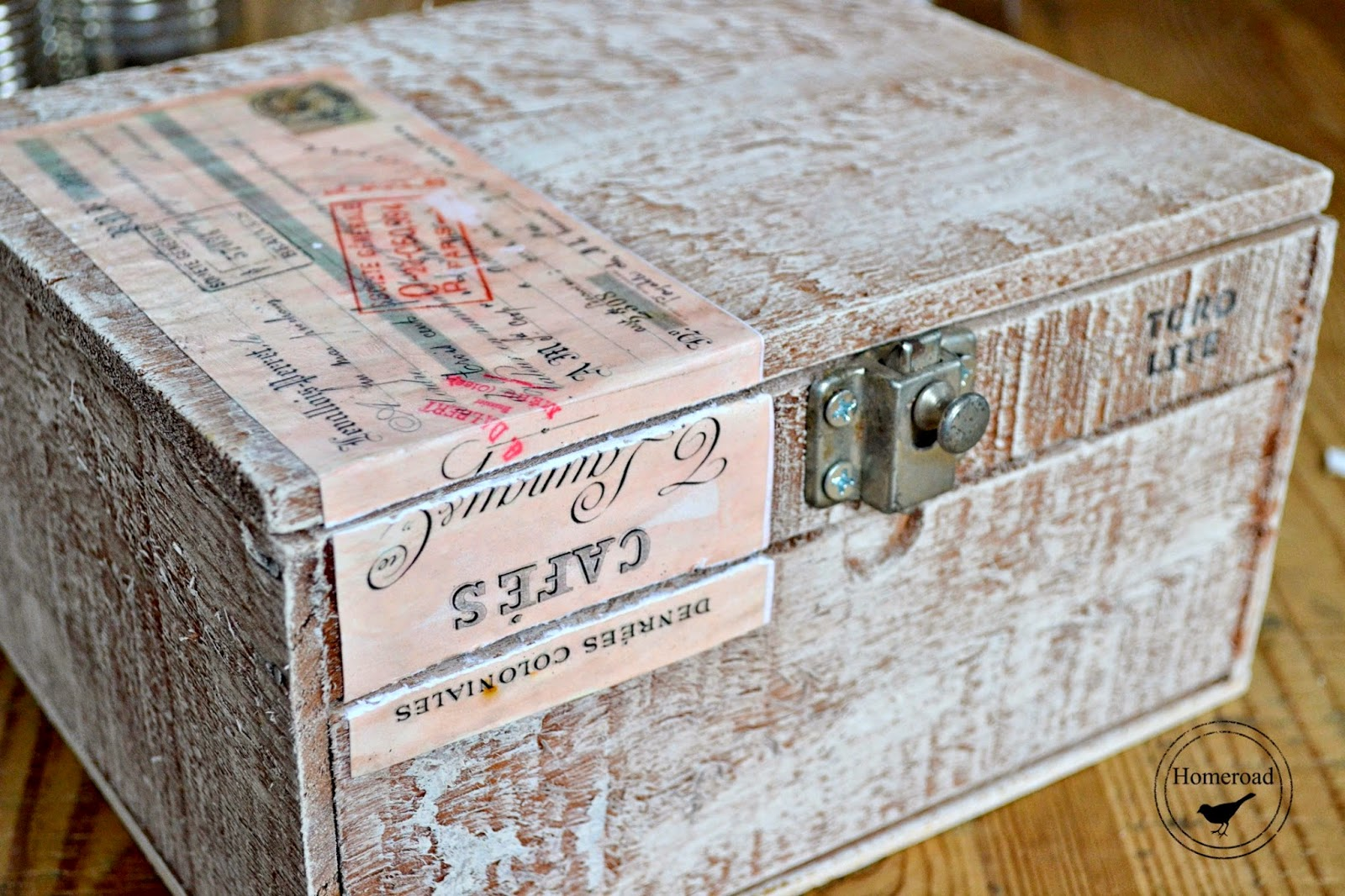 cigar box craft storage www.homeroad.net