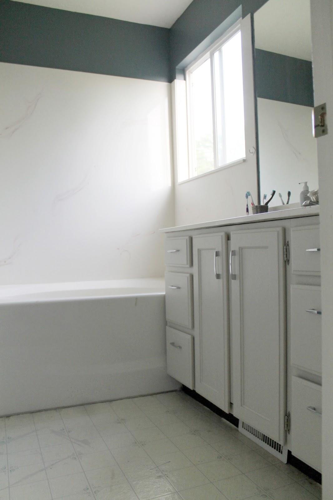 Peel and Stick Bathroom Floors - Chris Loves Julia