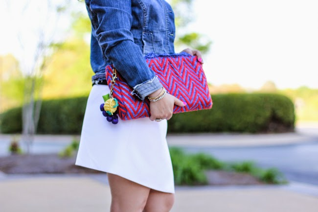 fun fabric clutch from anthropologie