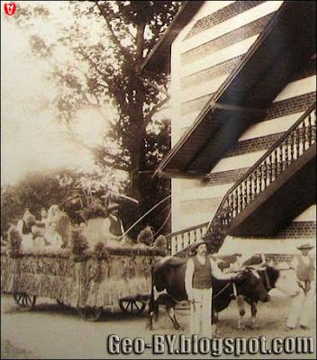 Фотографии охотничьего домика Тышкевичей времен его строительства