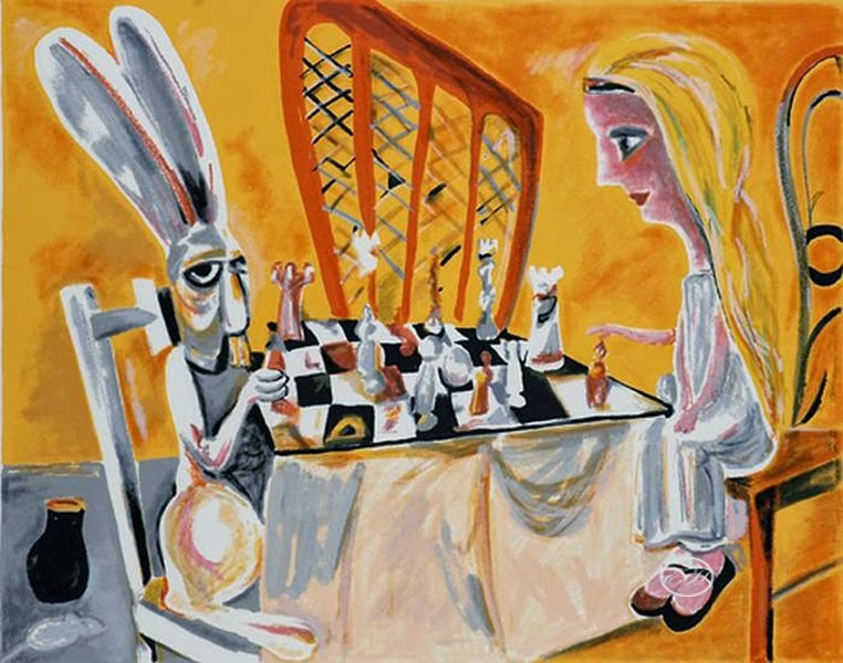 APRIL inspiration from Charles Blackman - The Chess Game