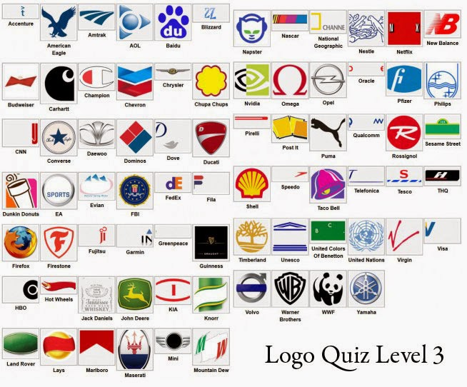 Todas as Respostas Picture Quiz: Logos | Jogo e Resposta Level 2 Logo Quiz Answers