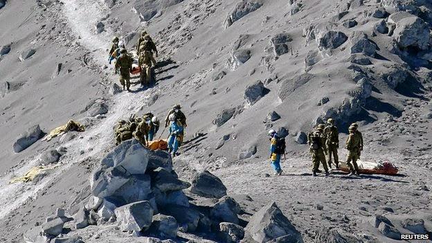Revolusi Ilmiah - Penyelamatan korban letusan gunung ontake