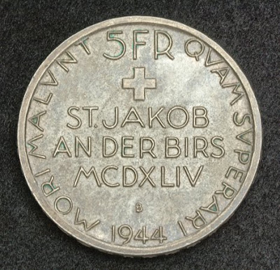 Switzerland Silver coin 5 Francs