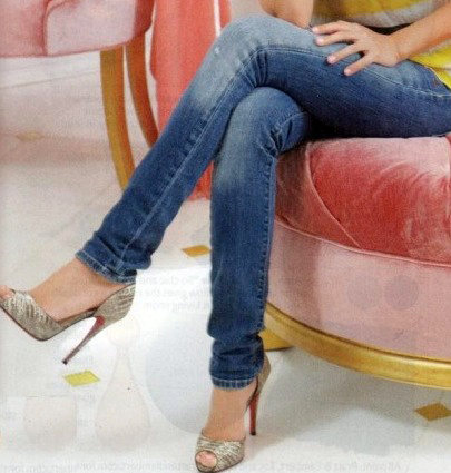 Fashion for linda high heels and jeans