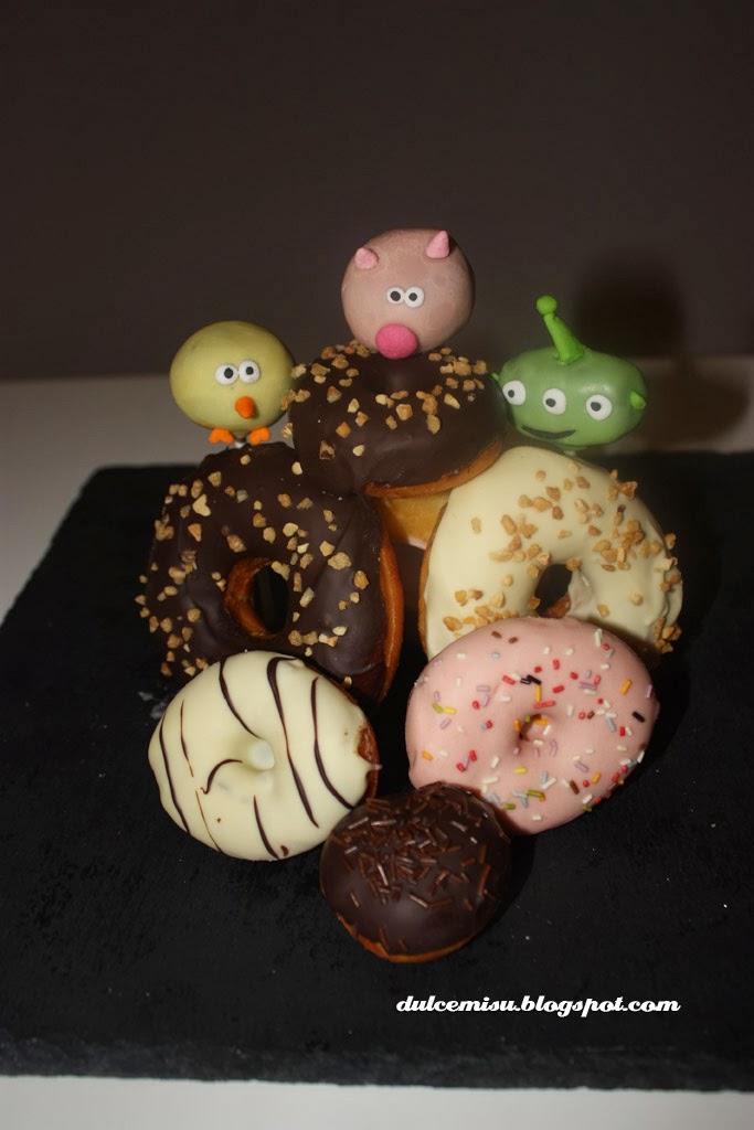 donuts, caseros, dulcemisu, glaseado, chocolate