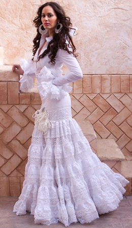 trajes de flamenca blanco