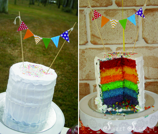 The Mini Bunting On Cake Is Part Of DIY Printables Set