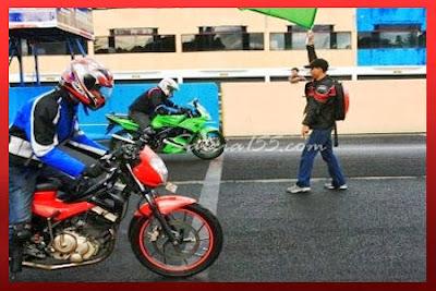 Modifikasi Satria Fu VS Ninja 150 RR 2014