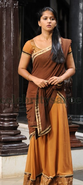 Anushka Light Orange Half Saree