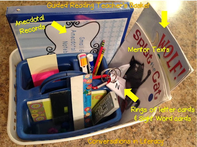 what to keep in your guided reading teacher's basket