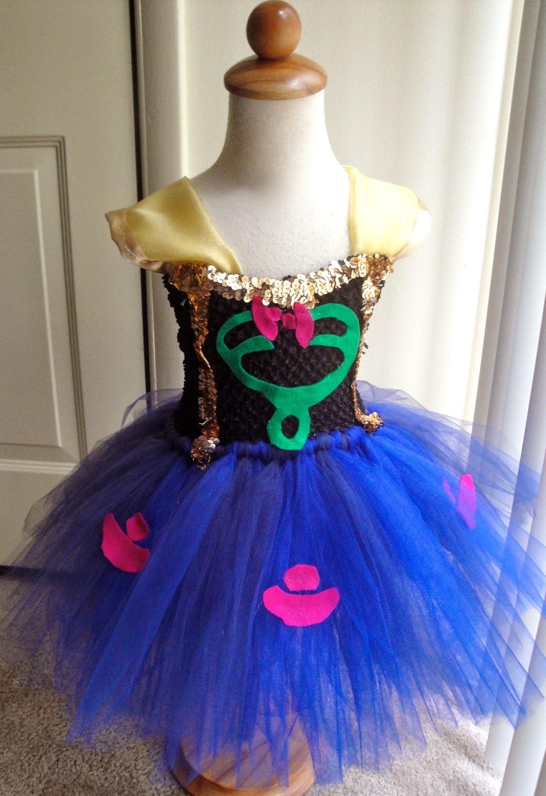 Frozen Anna Inspired Tutu Dress Costume