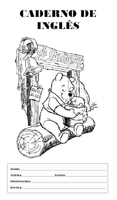 Capas Para Caderno   Ursinho Pooh
