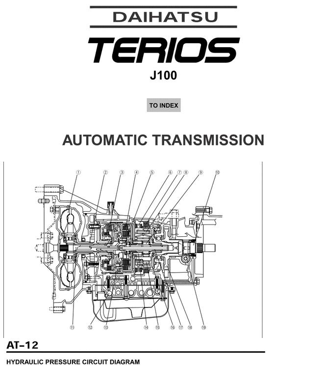 daihatsu terios j100 automatic transmission heavy equipment rh heavyequipmentworkshopmanuals blogspot com Allison Transmission Diagram 42RE Transmission Diagram