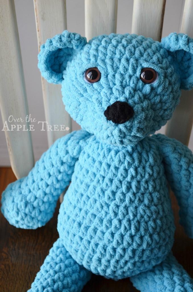Over The Apple Tree Super Squishy Crochet Bear Gorgeous Bernat Blanket Yarn Crochet Patterns