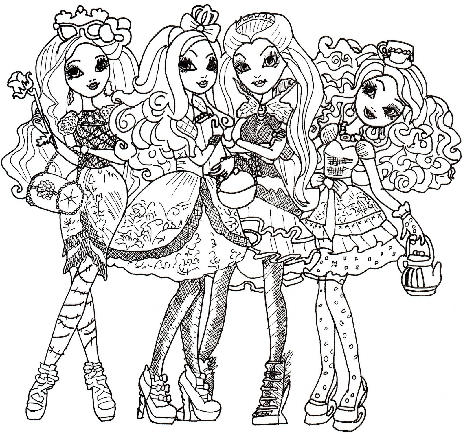 free printable ever after high coloring pages ever after