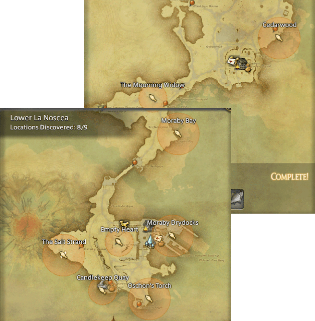 Final Fantasy 14 Fishing Spot Maps & Locations