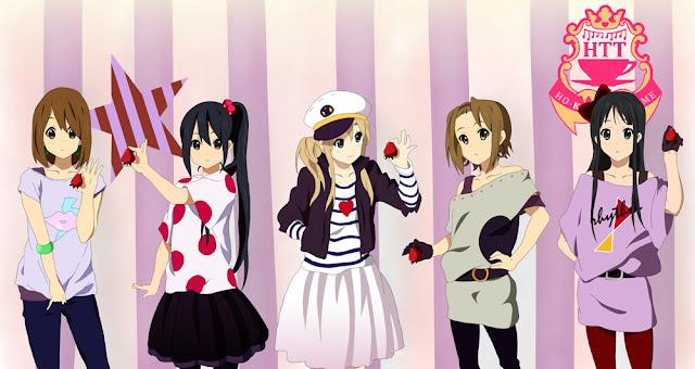 Azusa Nakano, Hirasawa Yui, Akiyama Mio,  Tainaka Ritsu , Kotobuki Tsumugi