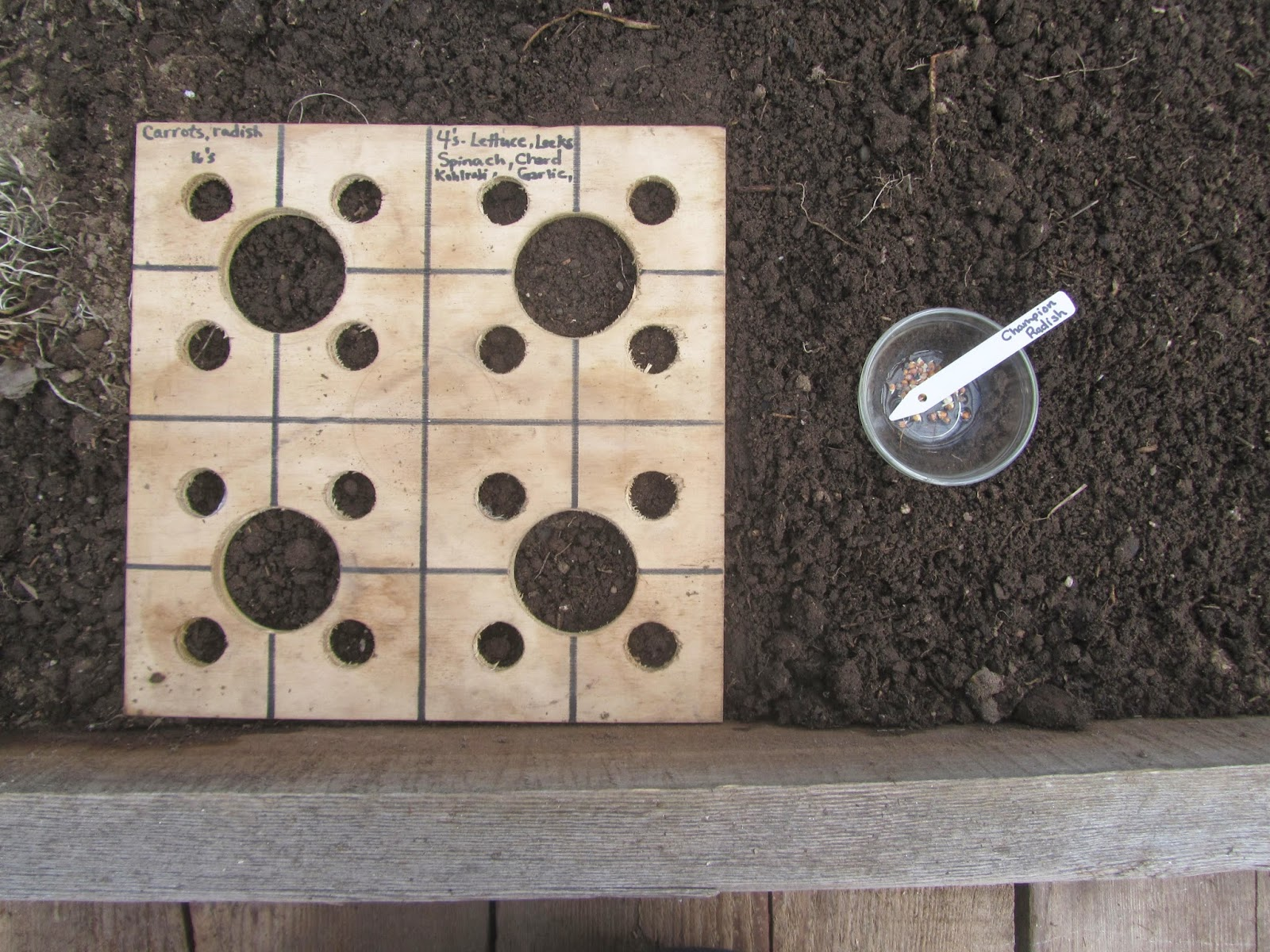 Square Foot Planting Board