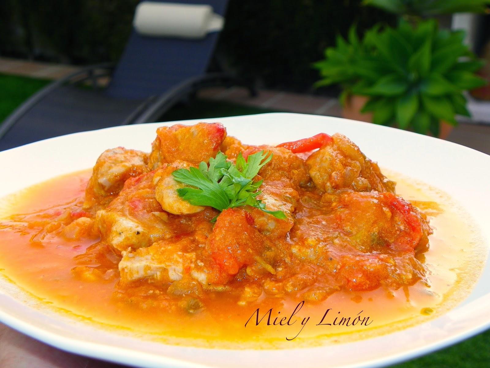 Miel y lim n recetitas at n con tomate y pimientos - Cocinar atun congelado ...