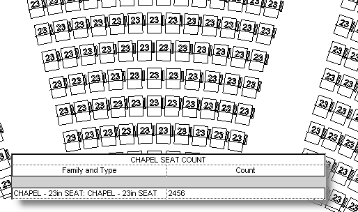 Beside the Cursor...: Auditorium Seating via Rail Object in Revit