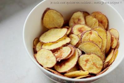 Je suis une quiche en cuisine mais je me soigne chips maison au micro ondes oui oui - Chips fait maison au four ...