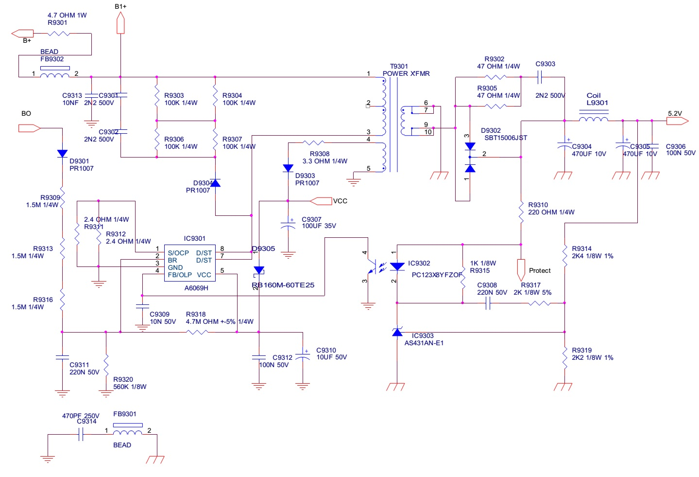 tv smps circuit diagram tv image wiring diagram haier le32c13200 haier le40c13800 smps and inverter circuit on tv smps circuit diagram